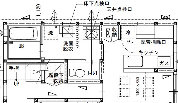 トイレ動線の図面例